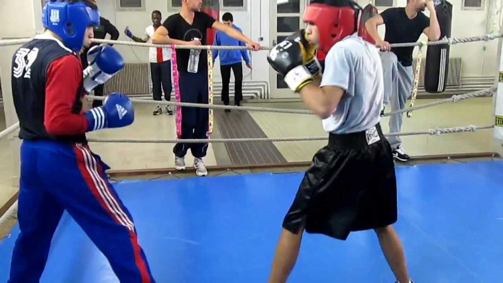 entrainement sparring debutant boxe