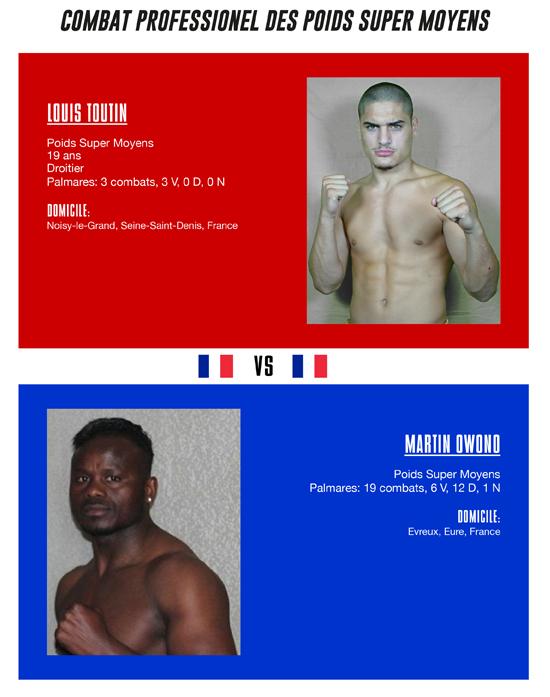 Louis Toutin vs. Martin Owono
